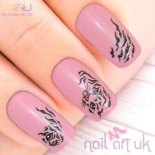 Black Leopard Print Adhesive Nail Art Stickers