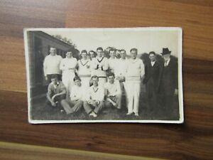 Old postcard - Cricket team - England - Jersey?
