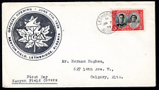 CANADA FIRST DAY KENYON FIELD COVER - 1939 -  KENYON FIELD, LETHBRIDGE, ALTERTA