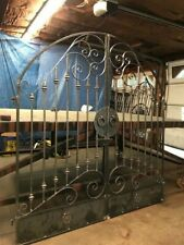 Tuscan Old World Iron Arched Scroll Garden/Wine Cellar Gate 6ft. Wide
