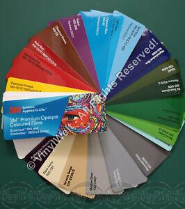 Farbfächer 3M - Premium Opaque Scotchcal™ 100 und Controltac™ 180Cv2 Series