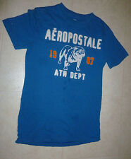 Boys Blue Aeropostale Athletic Dept Graphic stitched T-shirt XS Extra Small Dog