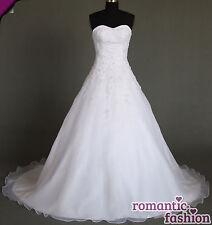 ♥Brautkleid, Hochzeitskleid Maßanfertigung alle Größen Weiß oder Creme+W081nM♥