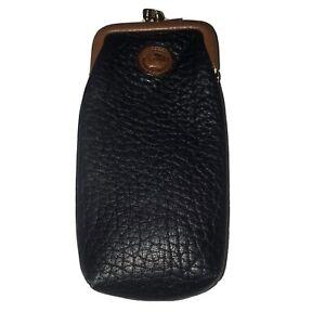 Dooney & Bourke All Weather Leather Black sunglass Case VTG Kisslock