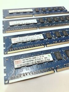 4x1GB (4GB Total) Hynix 1Rx8 PC3-8500E DDR3 1066MHz HMT112U7BFR8C-G7 Server RAM