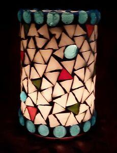 * Großes Mosaik - Windlicht, Glaswindlicht, Kerzenhalter, handarbeit *