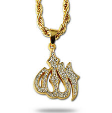 Iced Out Crystal Allah Pendant/Necklace with Franco Chain!