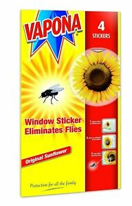 Vapona Fly Killer Window Stickers Sunflower Insect Flies Wasp Pest Attractor