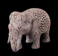 Estatua Elefante- Escultura De Piedra de la India Elefante CARVING-4979