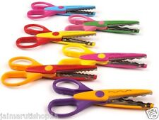 Penha 6 pattern art & craft scissors set for kids student school home use - 6 pc
