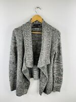 Forever New Women's Long Sleeve Knit Collared Open Cardigan Size S Green