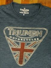 LUCKY BRAND Men's TRIUMPH Motorcycles Distressed Soft Vintage T Shirt Size S