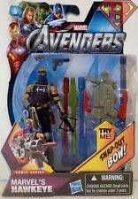 "MARVEL'S HAWKEYE The Avengers Movie Comic Series 4"" inch Action Figure #5 2012"
