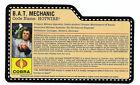 2008 GI JOE S.W.A.T. CONVENTION HOTWIRE FILE CARD MINT RARE ARAH HASBRO cobra **