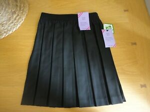 John Lewis Girls Black School Skirt Pleated 3 to 13 Years BNWT FREEPOST