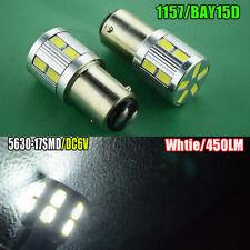 2x 6V BAY15D 17SMD LED 1157 Dual Filament Brake Stop Tail Light Bulb Globe Light
