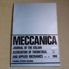 Meccanica V. 25 No. 2 1990__Journal of Theoretical and Applied Mechanics