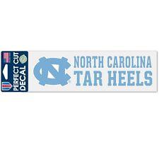 """North Carolina Tar Heels 3""""x10"""" Perfect Cut Decal - UNC Auto Car Emblem Sticker"""