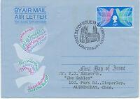 "2441 1971 QEII Christmas 5 P. superb Air Letter to Altringham FDI ""CANTERBURY"""
