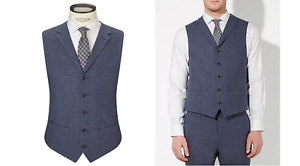 JOHN LEWIS & Co Talbot Milled Crossweave Tailored Waistcoat Size 40R BNWT £100