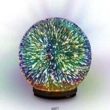 Illumiglobe Mesmerizing LED Desktop Lamp Colored White Desk light Cordless Globe