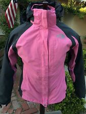 The North Face Hyvent Jacket Women 3 in1 Size M  w/liner Pink St# T150+550 AAQJ
