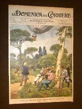 Copertina La Domenica del Corriere 30 giugno 1901 Roma Pallone aerostatico