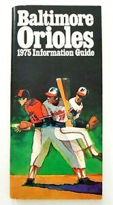 Vintage 1975 Baltimore Orioles Information Guide Baseball MLB Ephemera