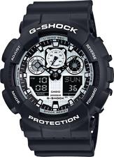 New Casio G-Shock Black & White GA100BW-1A  Analog-Digital X Large Men's Watch