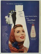 1956 deep magic facial cleansing lotion Suzy Parker vintage color AD