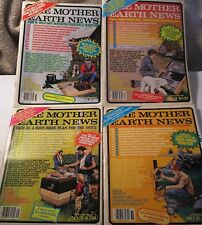 The Mother Earth News Lot 4 Issues 73 74 75 76 Homesteading DIY Magazines