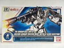 Bandai The Gundam Base Limited Hg 1/144 Unicorn Gundam Metallic Gloss Injection