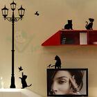 Wall sticker adesivo parete Gatti Lampione decorazione adesiva decoro muro gatto