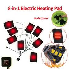 HOT 8-in-1 USB Heating Pad Thermal Vest Heated Jacket Motorcycle Winter Warm Pad