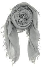 Chan Luu Soft Cashmere & Silk Scarf Wrap Solid GRIFFIN Grey Gray BRH-SC-140