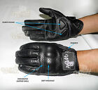 Perforated leather Motorcycle leather gloves