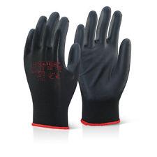 50 Pairs Click 2000 EC9BLM PU Coated Precision Gloves BLACK Colour MEDIUM