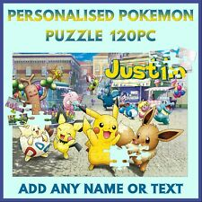 Personalised Pokemon Puzzle - 120pc Jigsaw - Name Gift, Kids Birthday, Christmas