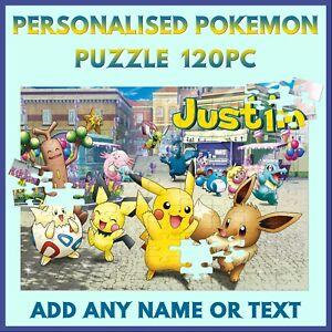 Personalised Pokemon Puzzle - 120pc Jigsaw - Name Gift, Kids Birthday, Christmas