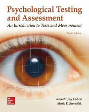 PSYCHOLOGICAL TESTING AND ASSESSMENT 9E RONALD JAY COHEN