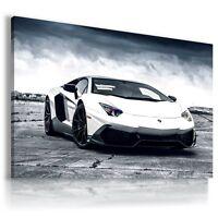 LAMBORGHINI AVENTADOR WHITE Sport Car Large Wall Art Canvas Picture AU210 MATAGA