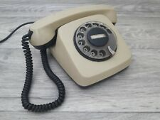 Vintage rotary phone TA-600 Belogradchik Bulgaria. 1984 Telephone. Original