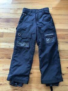 Boys Spyder Ski Pants Size 8 Black Snow Pants Snowboarding EUC