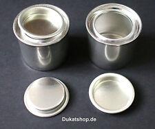 10x Weißblechdose leer 50 ml Dose Lackdose Metalldose Eindrückdeckel Blechbüchse