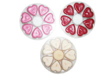 FAIR TRADE HEART SHAPED TEALIGHT 7+1 ROUND CANDLES - HOME FRAGRANCE-  4*2CM
