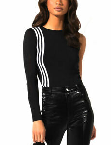adidas Originals Women's TLRD One Long Sleeve Fine Knit Stripe Top XS S M L