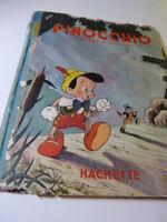 PINOCCHIO  .WALT DISNEY ..HACHETTE . 1943 , d'après C.COLLODI  (cpl12)