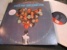 Nino Rota Fellini Satyricon Banda Sonora LP Promo '70 Ua Orig Raro Oop