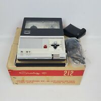 Vintage Craig 212 Portable Reel To Reel Tape Recorder With Box Instructions Work