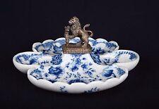 Porzellan Schale Obstschale Vase Bronze Löwe